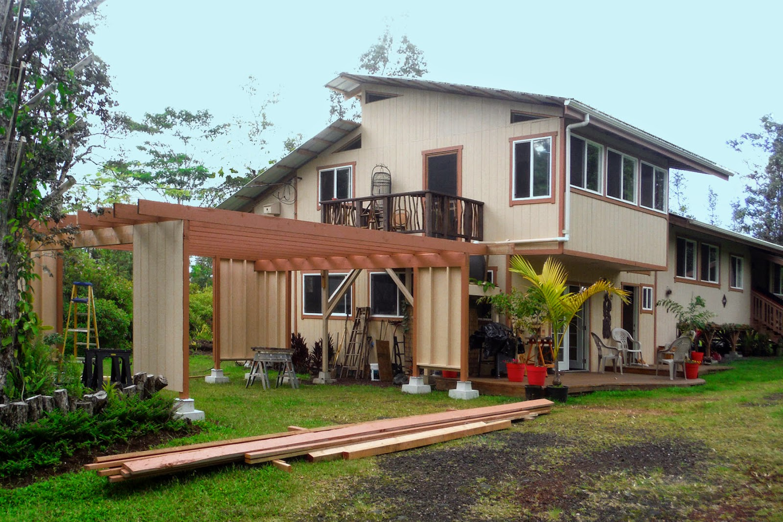 Haysmer hawaii carport deck completed for Carport deck