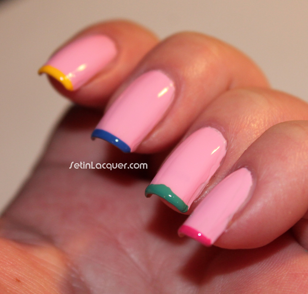 Tip Nail: Multi Color Tips
