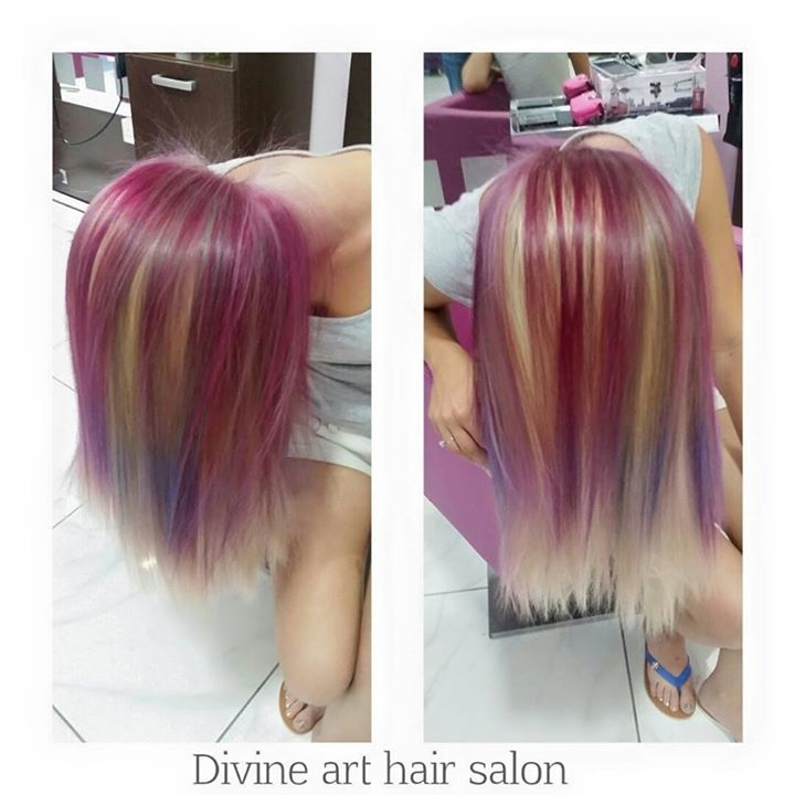 Some of the best highlights you ever saw for K divine hair salon