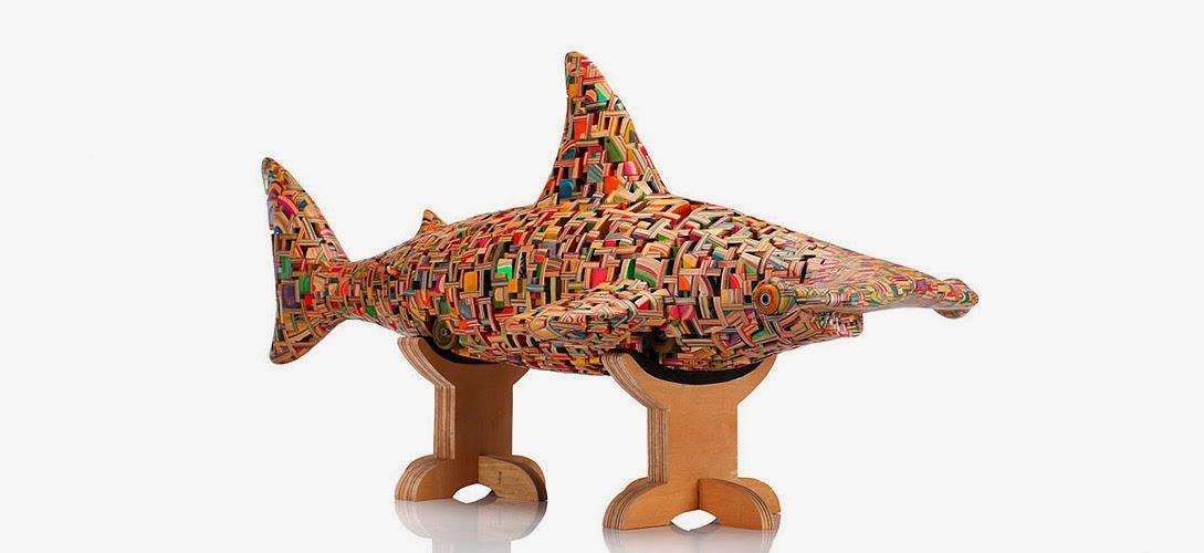 19-Hammer-Head-Shark-1-Haroshi-The-Art-of-Skateboarding-Made-into-Sculpture-www-designstack-co