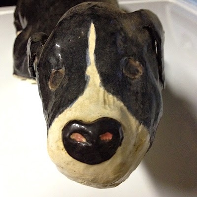 Ceramic Sculpture of a Dog by Future Relics Gallery
