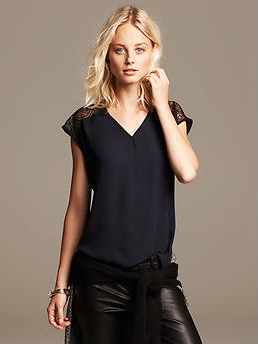 lace banana trim top banana republic