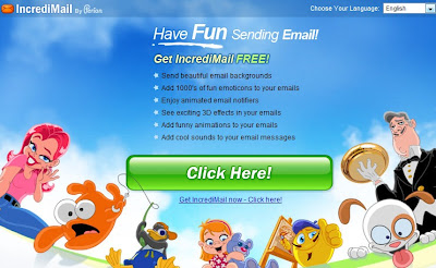 IncrediMail homepage