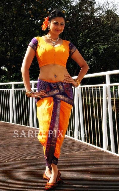 Daisy-shah-traditional-saree-stills-from-Gajendra-movie