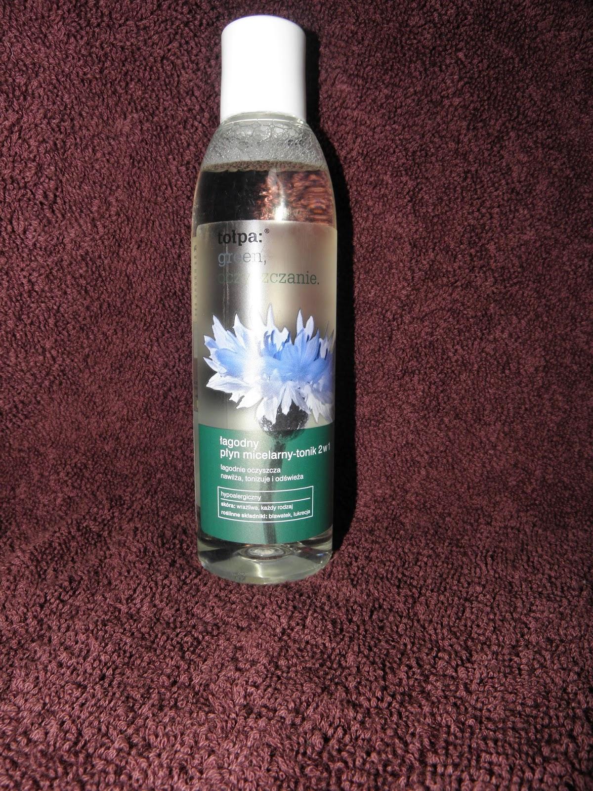 Tołpa łagodny płyn micelarny - tonik 2 w 1 czyli nowości Biedronki