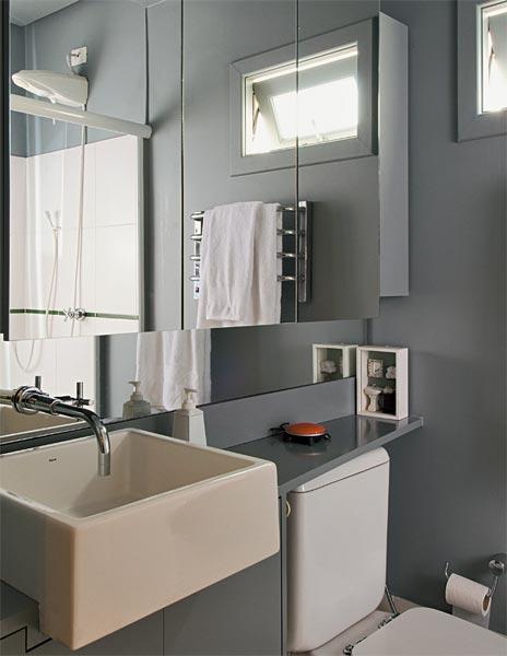 BANHEIROS PEQUENOS MODERNOS 4 ESTILOS + 25 FOTOS  Decor Alternativa -> Banheiro Moderno Pequeno