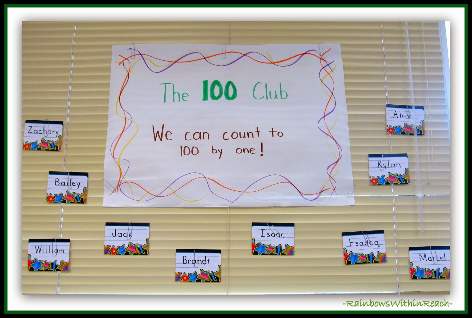 """The 100 Club"" Students who can count to 100"