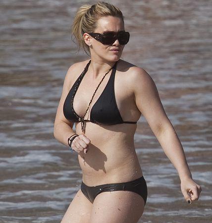 Hilary Duff Black Bikini