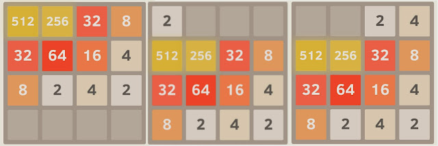 2048 new tile in the corner