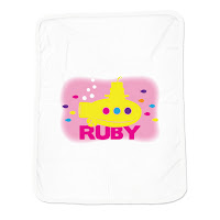 Psychobaby Lil Yellow Sub Blanket Pink