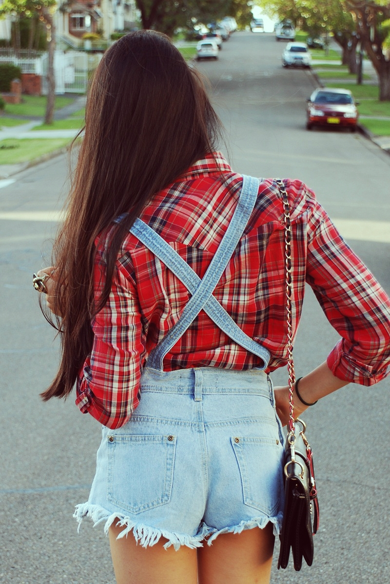 dungarees, personal style, plaid, overalls, street style, fashion blogger, OASAP, Boohoo, Zara, Sportgirl, Samantha Wills