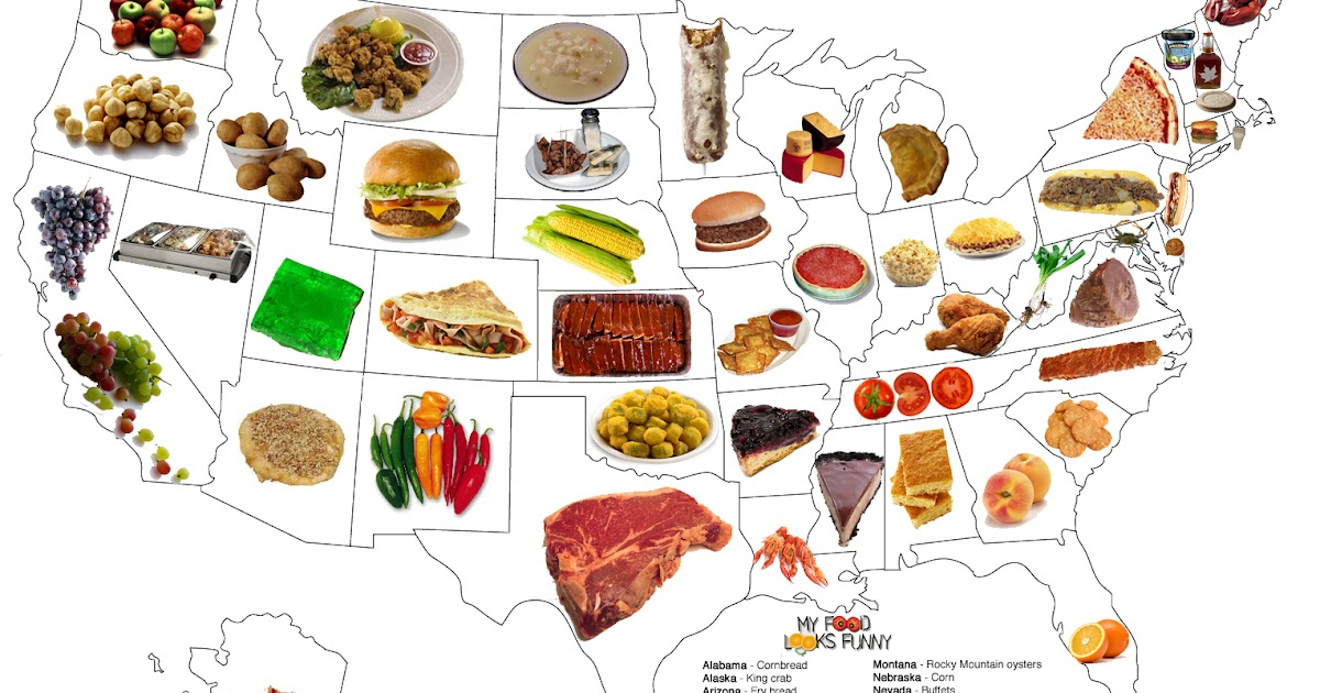 The united states of food map jennys noodle sciox Gallery