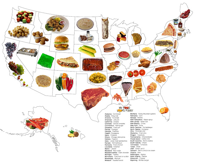 United States, food map