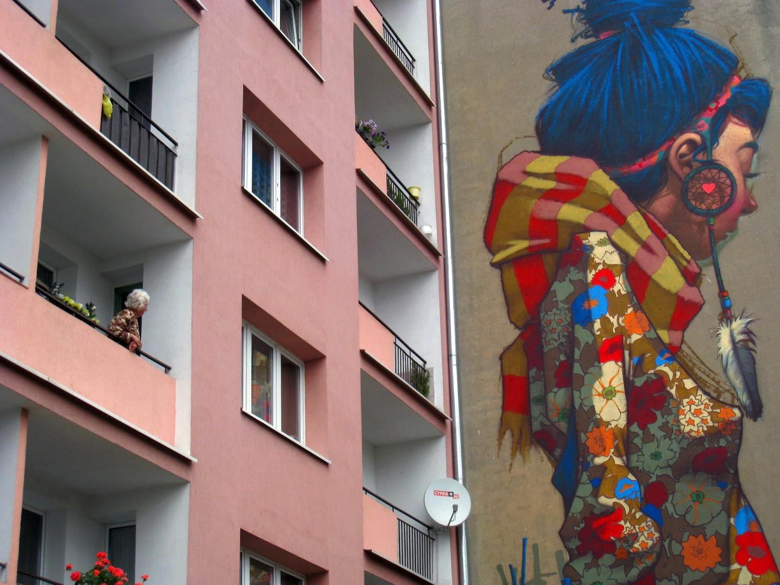 Sainer New Mural In Lodz Poland Streetartnews