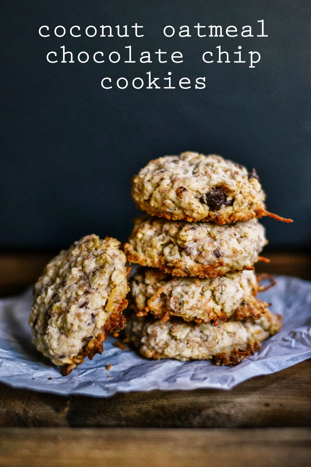 p.s.♡: coconut oatmeal chocolate chip cookies