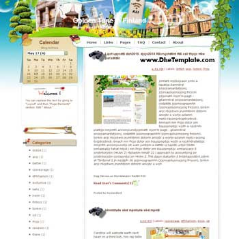 Golden Time in Finland blogger template