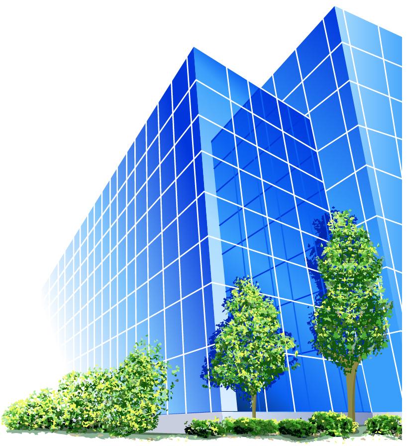 オフィスビルのクリップアート office building vector イラスト素材6