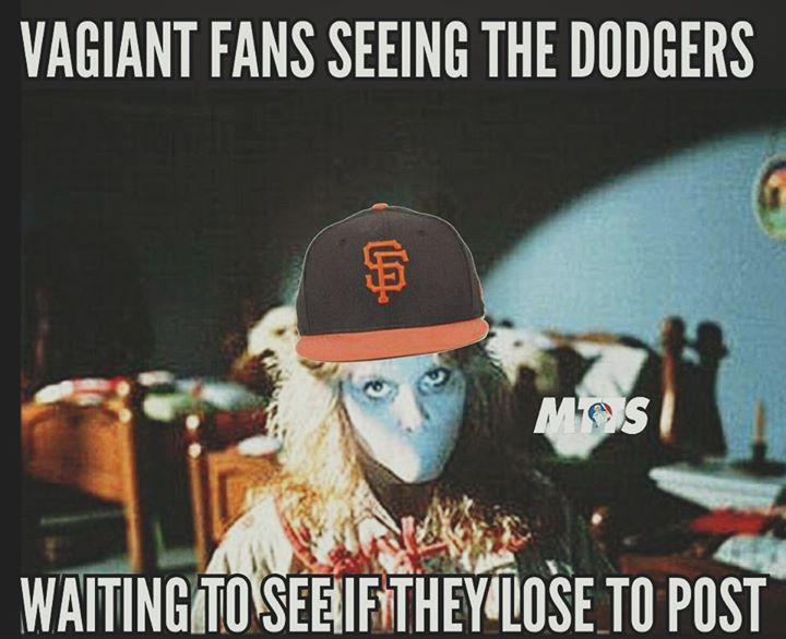 vagiant fans seeing the dodgers waiting to see if they lose to post