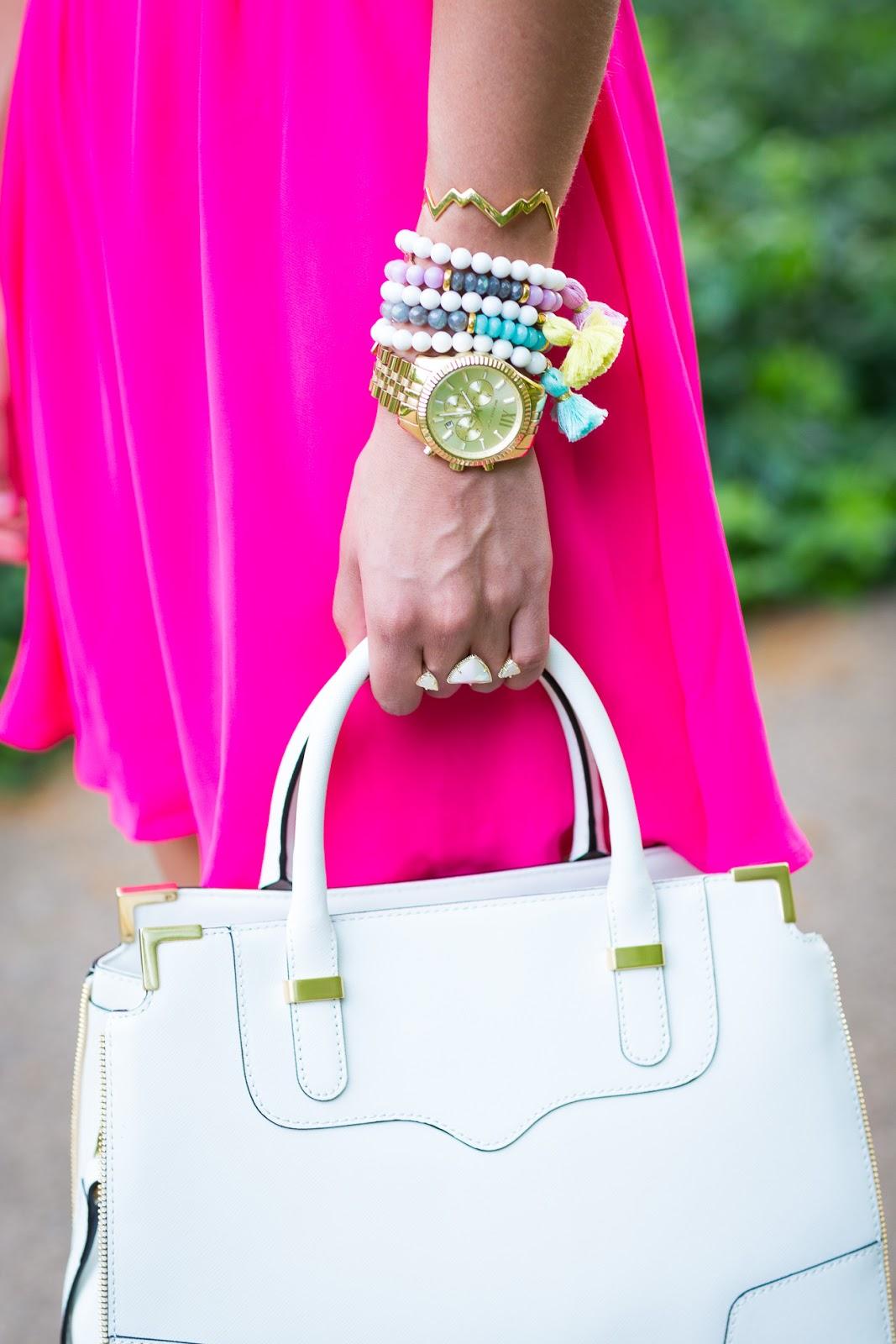 Tassel Bracelets and Rebecca Minkoff Satchel // A Southern Drawl