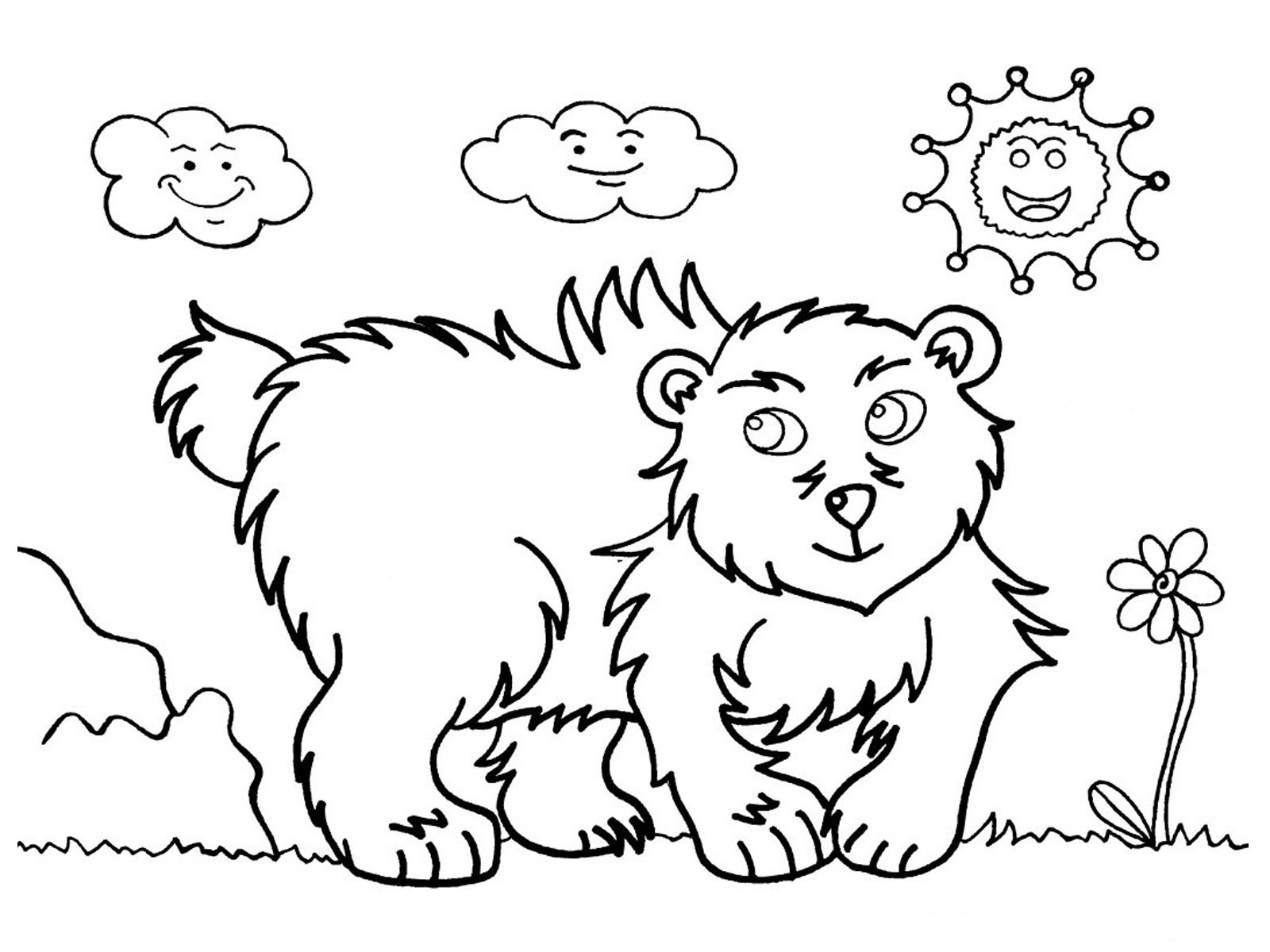 kids coloring pages bear - photo#27