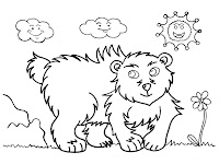 Bear Printable Kids Coloring Pages