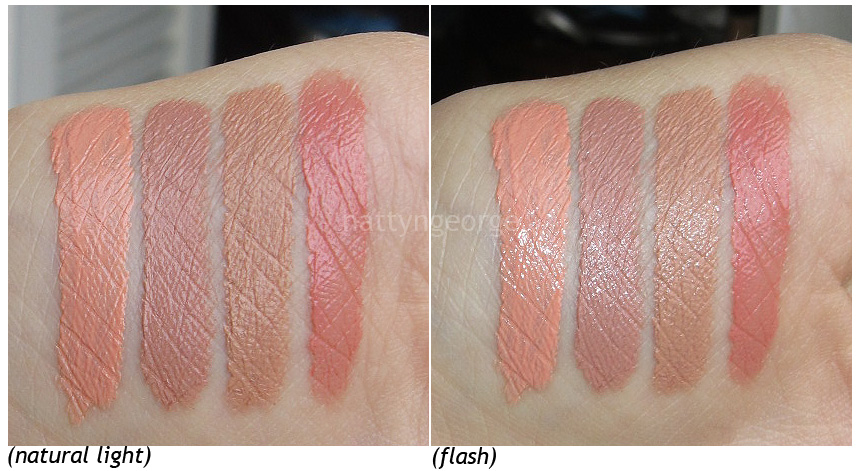 swatches  from l - r  orange soda  circe  honey  pumpkin pieNyx Narcissus On Dark Skin