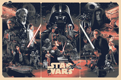 Star Wars: The Original Trilogy Variant Screen Print by Grzegorz Domaradzki (Gabz) x Bottleneck Gallery x Acme Archives Direct