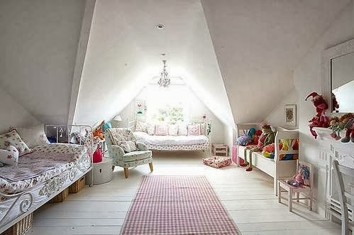Eye For Design Decorating An Attic Room With Coziness And