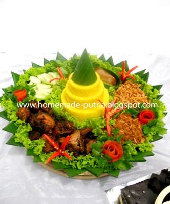 Order] Tumpeng 10 Porsi & Simple Brownies Kukus Bday For Anung Jogja