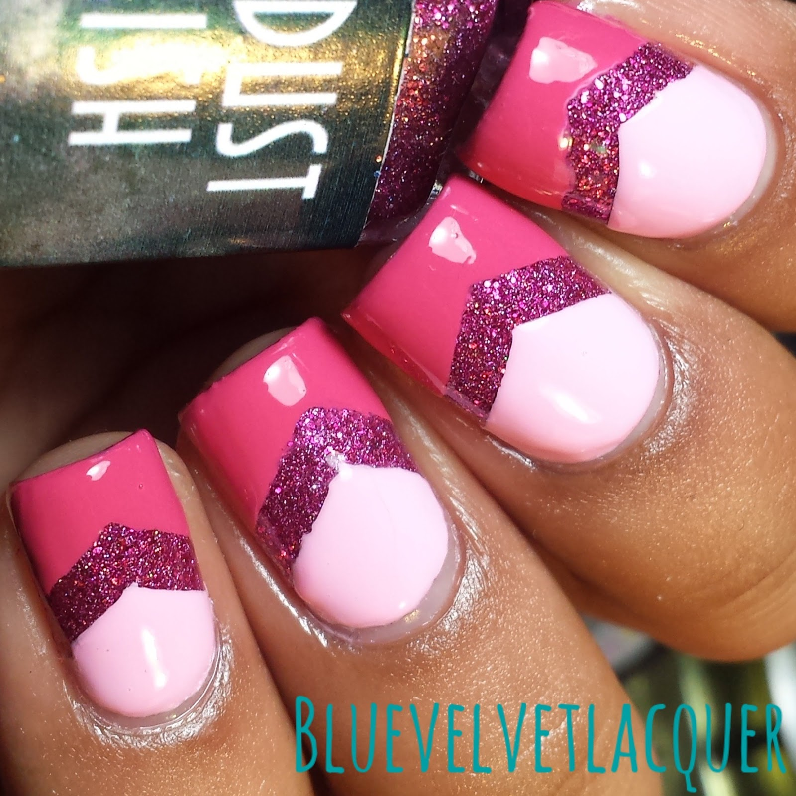 Sleeping Beauty Nail Art: Blue Velvet Lacquer: Stardust Polish: Swatches & Review