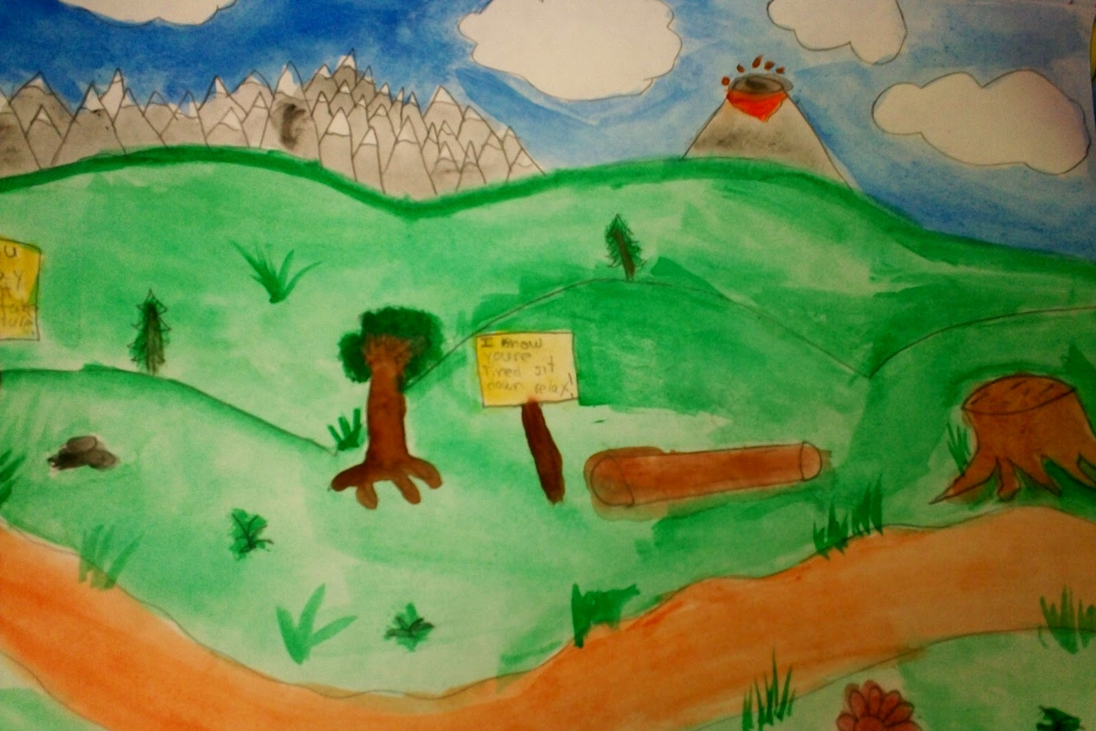 Art with mr e landscape paintings 4th grade for Basic portrait painting