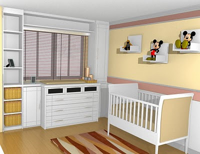 quarto para bebê,branco
