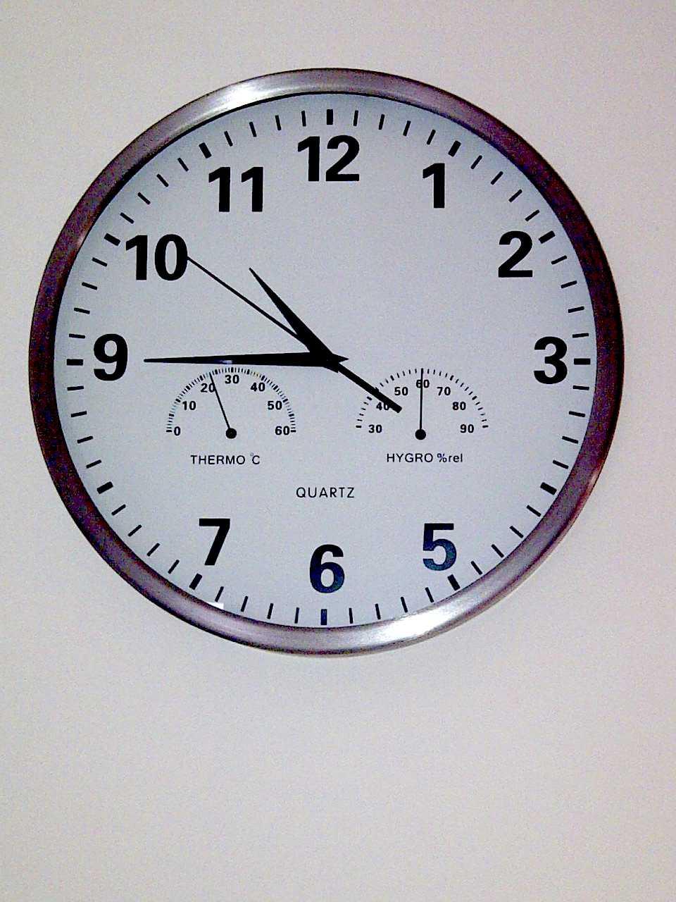 V ctor charneco el origen de las once menos cuarto - Reloj cuarto de bano ...