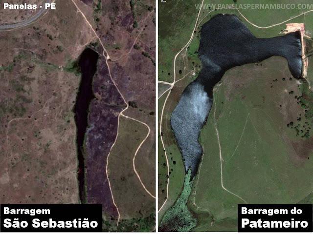 Barragens: São Sebastião e a barragem do Patameiro, localizadas em Panelas - PE