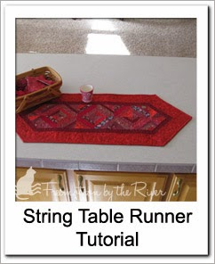 Red String Table Runner Free Tutorial at Freemotion by the River