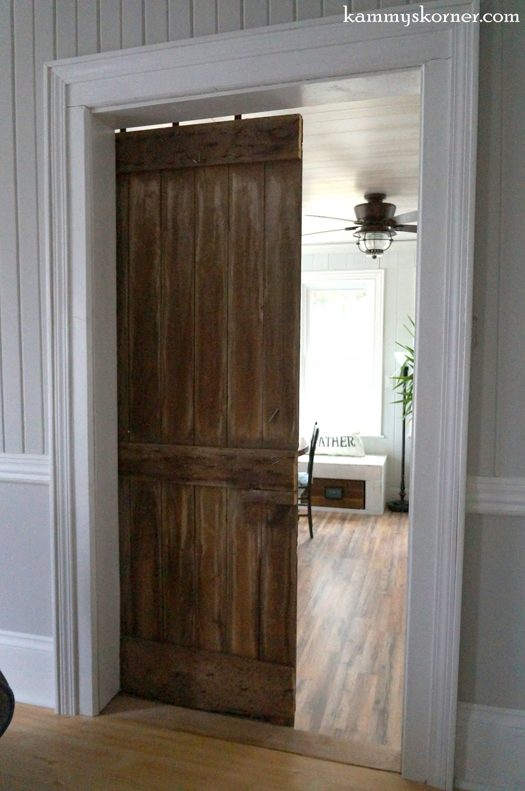 Kammy 39 s korner rescued barn door from a forsaken iowa farm for Back door sliding door