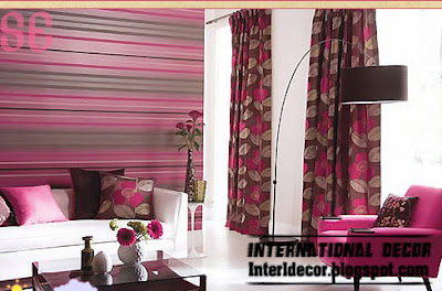 modern striped wall paints schemes pink brown Modern Striped wall paints designs, ideas, colors