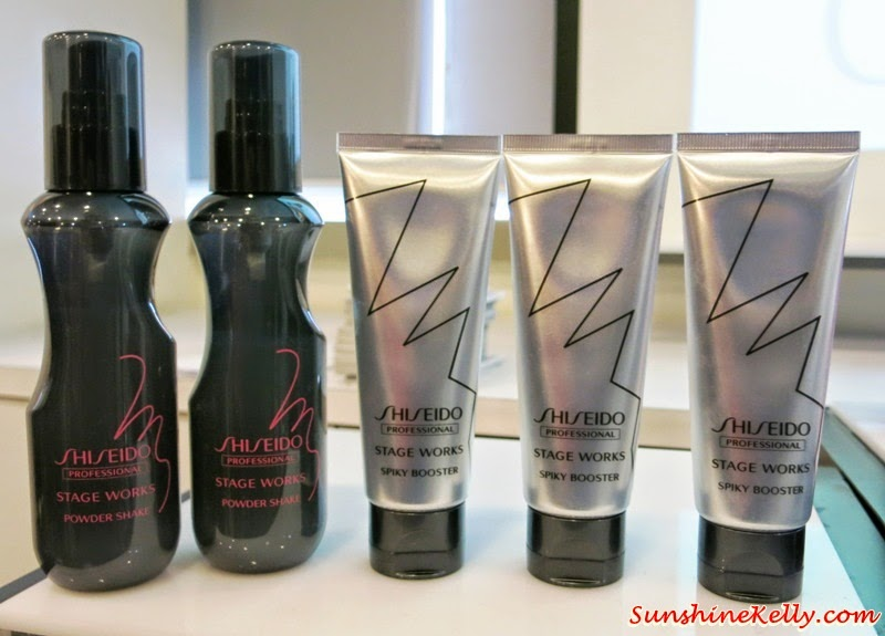 Shiseido Professional, Color Me Knot, Spring Summer 2014 Hairstyle Trend, haircare, hairstyle, Stage Works, Powder Shake, Spiky Booster