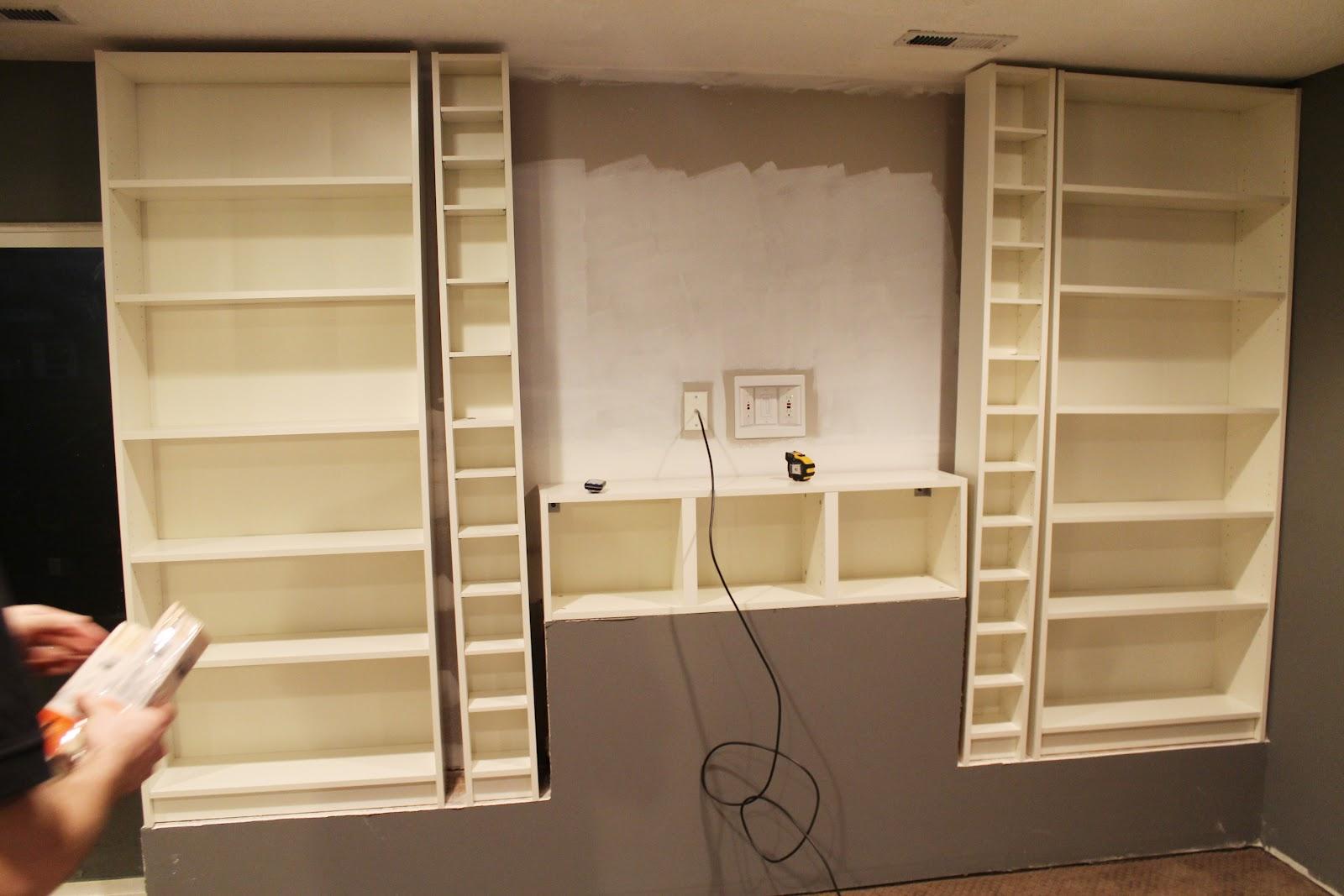 Built In Drywall Shelves Built In Billys Part 1 Chris Loves Julia