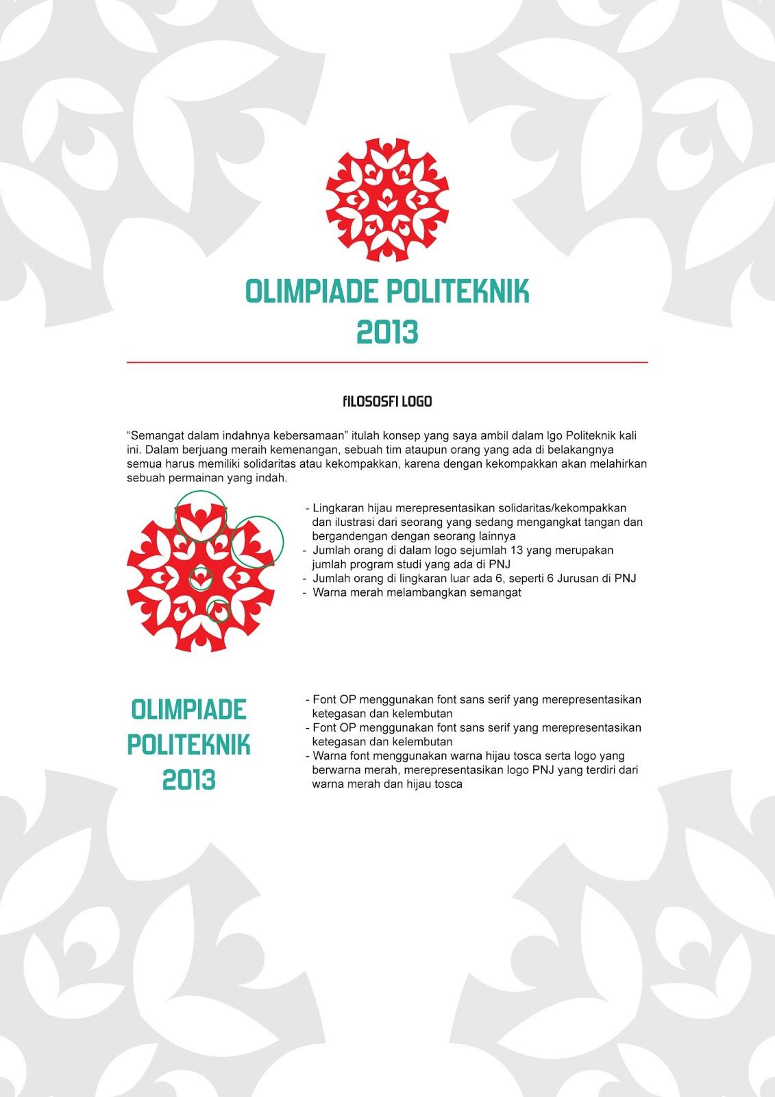 olimpiade politeknik negeri jakarta logo baru semangat baru