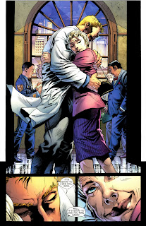 Barry Allen hugging his mom from Flashpoint #1
