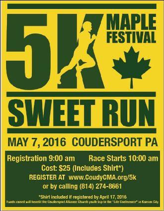 5-7 5K Sweet Run, Coudersport