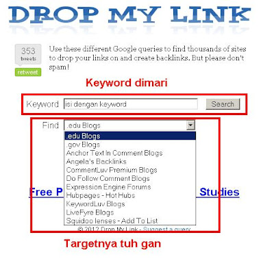 Mendapat Ribuan Backlink EDU, GOV dan Situs Dofollow Gratis