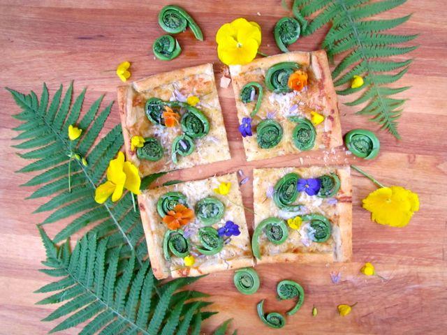 Diane Carnevale: Fiddlehead fern tart