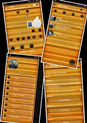 BBM Mod Woody/Kayu Versi 2.10.0.31 Final Apk