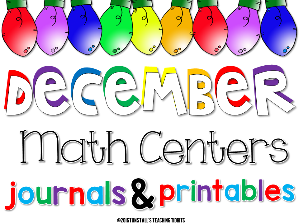 December Math Games, Journals, and Printables - Tunstall\'s Teaching ...