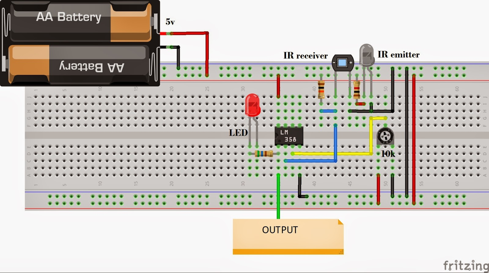 Make robots in less than 15 minutes circuit diagram for the ir sensor pooptronica Gallery
