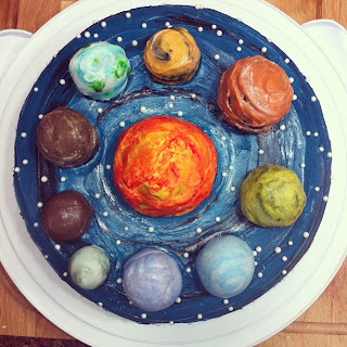 Universe Cake www.thesweetchick.com
