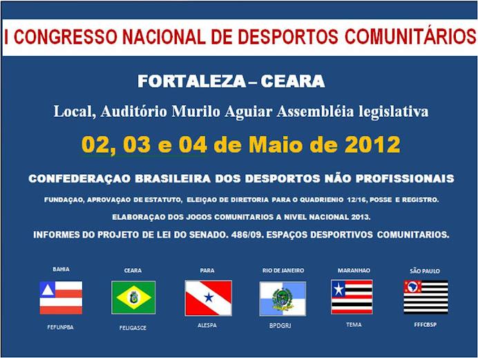 O DESPORTO NAO PROFISSIONAL BRASILEIRO  RUMO AO ESTADO DO CEARA