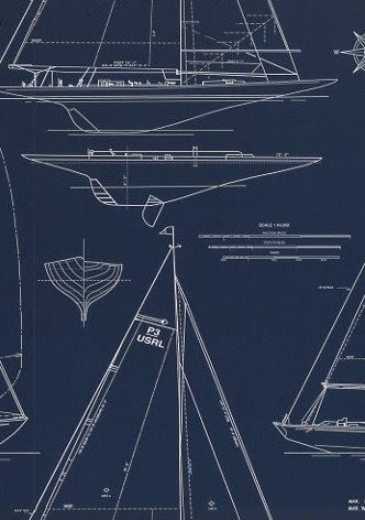 Willow bee inspired ahoy ship mate nautical touches in your home - Ralph lauren wallpaper ...